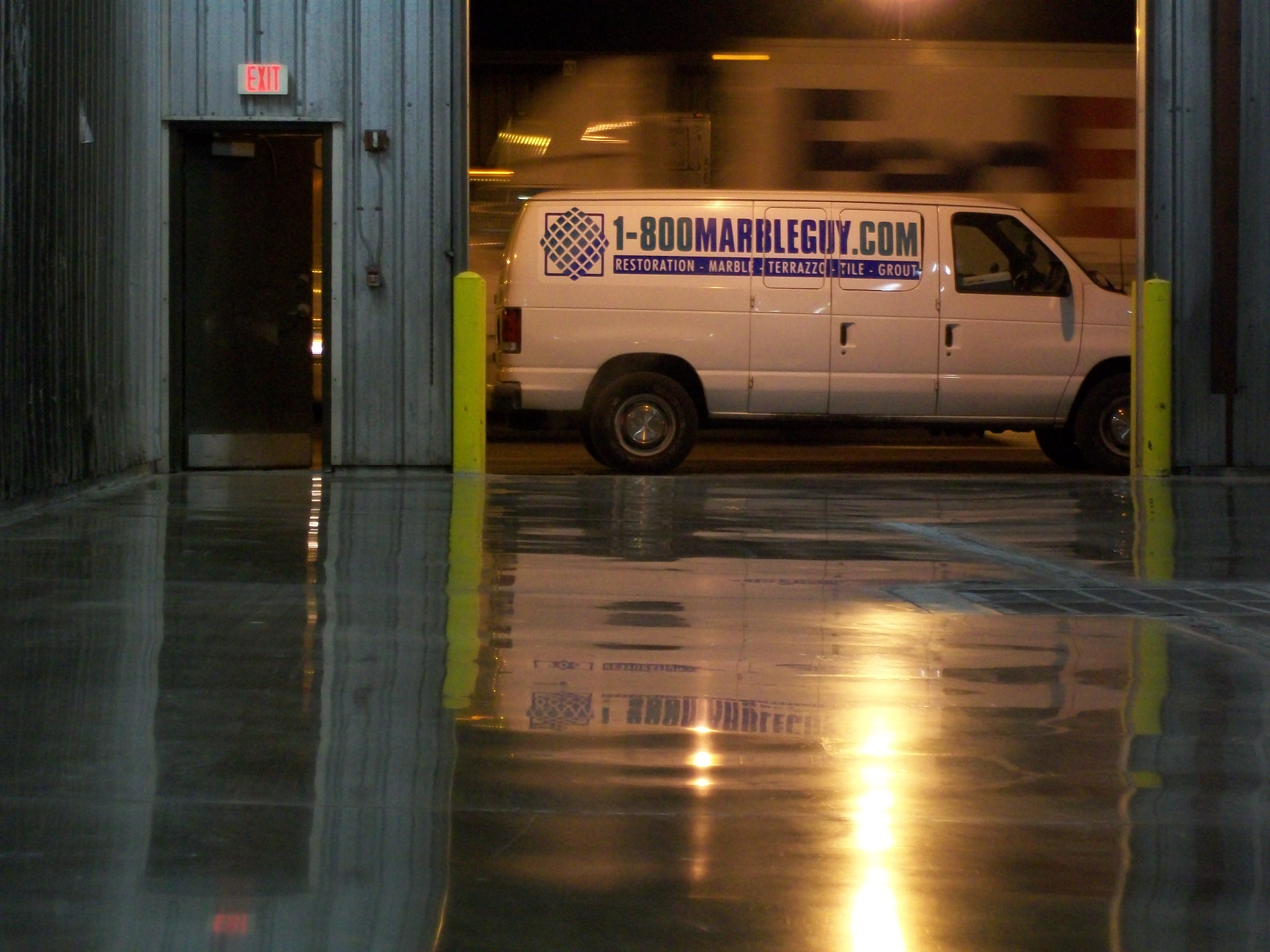 Concrete floor cleaning polishing and restoration for Industrial concrete floor cleaning services