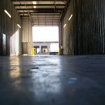 Turning an unsafe commercial floor into a safe polished concrete floor in St Petersburg, Florida.
