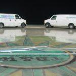 Commercial polished concrete floor.
