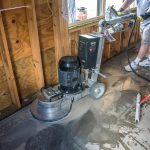 preparing custom polished concrete floor