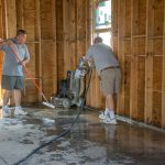 preparing custom polished concrete flooring