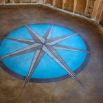 Decorative polished concrete flooring in Florida.