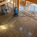 custom stained and polished concrete flooring