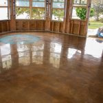 high-end artisan polished concrete flooring freshly polished.