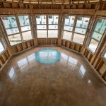 Custom decorative polished concrete flooring in Florida.