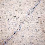 Terrazzo floor repair invovles choosing correctly matched aggregate stones.