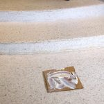 No cracks left unsealed - terrazzo floor restoration.