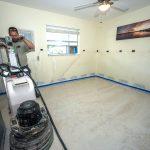 Terrazzo floor restoration.