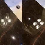 Marble countertop stain removal in St Petersburg, Florida.